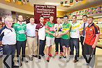 The County Senior Hurling and Football championship Drew held at Garvey's on Monday pictured l-r Ger McCarthy, Hurling Officer, Barry O'Grady, Ballyduff, Patrick O'Sullivan, Chairman, Anthony Feeley, Causeway, Shane Nolan, Crotta, Darren Delaney, Ardfert, Martin Stackpoole, Lixnaw, Seanie Murnane, Kilmoyley, Shane Dunne, Ballyheigue, Jim Garvey, Financial Director Garveys