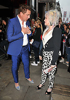 John Barrowman and Cyndi Lauper at the &quot;Kinky Boots&quot; gala performance, Adelphi Theatre, The Strand, London, England, UK, on Tuesday 29 May 2018.<br /> CAP/CAN<br /> &copy;CAN/Capital Pictures