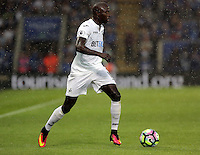 Pictured: Modou Barrow of Swansea City Saturday 27 August 2016<br />Re: Swansea City FC v Leicester City FC Premier League game at the King Power Stadium, Leicester, England, UK