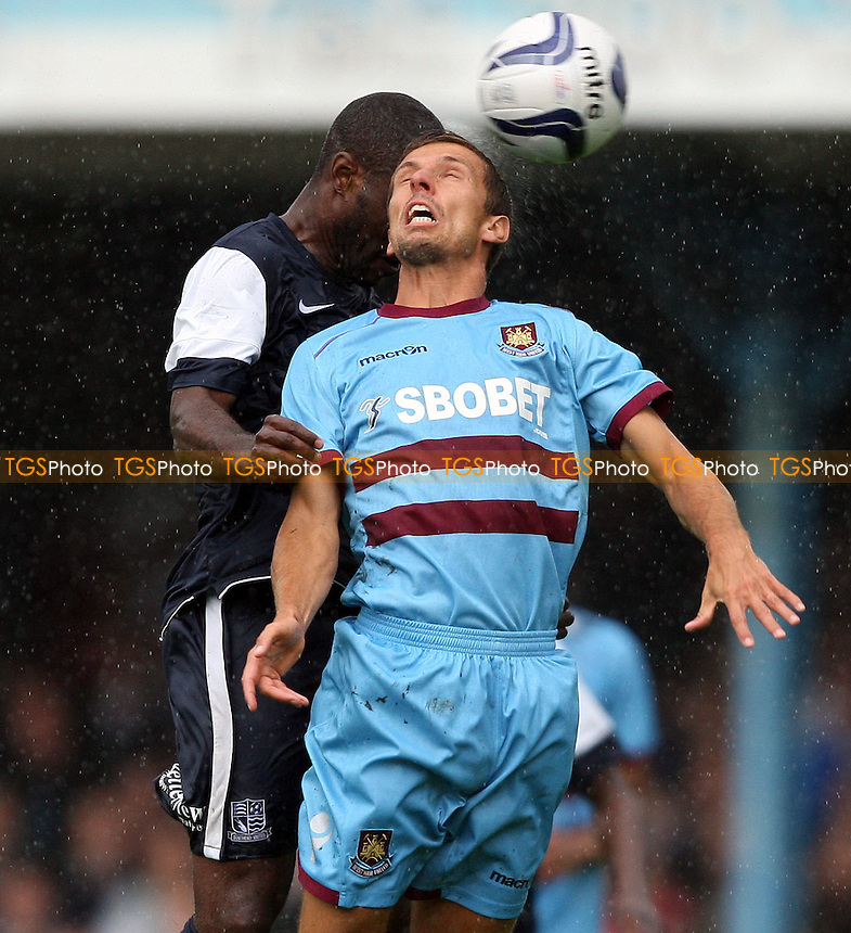 Gary O'Neil of West Ham in action - Southend United vs West Ham United, Pre-season Friendly at Roots Hall, Southend - 14/07/12 - MANDATORY CREDIT: Rob Newell/TGSPHOTO - Self billing applies where appropriate - 0845 094 6026 - contact@tgsphoto.co.uk - NO UNPAID USE..