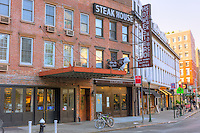 The Old Homestead Steakhouse in the Chelsea neighborhood of Manhattan in New York City, New York.  The steakhouse has been in operation at this location since 1868.
