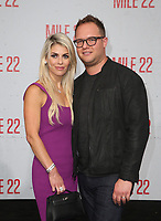 9 August 2018-  Westwood, California - Sam Slater, Guest. Premiere Of STX Films' &quot;Mile 22&quot; held at The Regency Village Theatre. <br /> CAP/MPIFS<br /> &copy;MPIFS/Capital Pictures