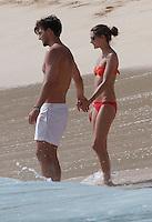 Olivia Palermo & Johannes Huebl, Kissing & cuddling in the ocean in St. Barths