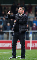 Martin Allen Manager of Barnet during the Sky Bet League 2 match between Wycombe Wanderers and Barnet at Adams Park, High Wycombe, England on 16 April 2016. Photo by Andy Rowland.