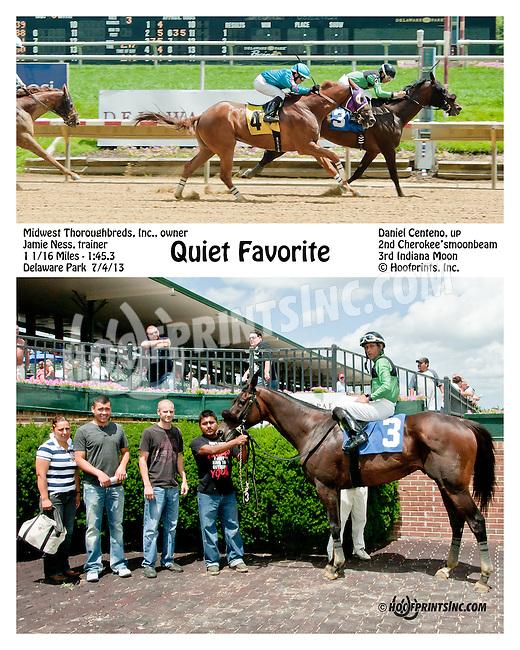 Quiet Favorite winning at Delaware Park on 7/4/13