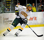 3 January 2009: University of Vermont Catamount defenseman Kyle Medvec, a Sophomore from Burnsville, MN, in action against the St. Lawrence Saints during the championship game of the Catamount Cup Ice Hockey Tournament at Gutterson Fieldhouse in Burlington, Vermont. The Cats defeated the Saints 4-0 and won the tournament for the second time since its inception in 2005...Mandatory Photo Credit: Ed Wolfstein Photo