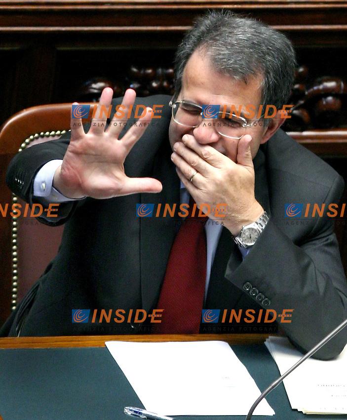 Roma 22-05- 2006: Camera dei Deputati,dibattito sulla fiducia al nuovo Governo Prodi<br /> Nella foto il Presidente del Consiglio Romano Prodi  <br /> Photo Serena Cremaschi Insidefoto