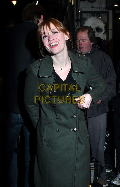 Anne-Marie Duff.at the Opening night of 'Macbeth', Trafalgar Studios, Whitehall, London, England, UK, February 22nd 2013..half length green khaki  coat .CAP/ROS.©Steve Ross/Capital Pictures