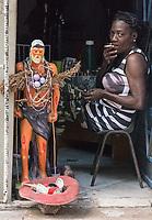Soliciting donations for San Lázaro, La Habana Vieja