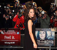 London - BFI London Film Festival screening of 'Rust and Bone'.' at the Odeon West End, London October 13th 2012..Photo by Keith Mayhew