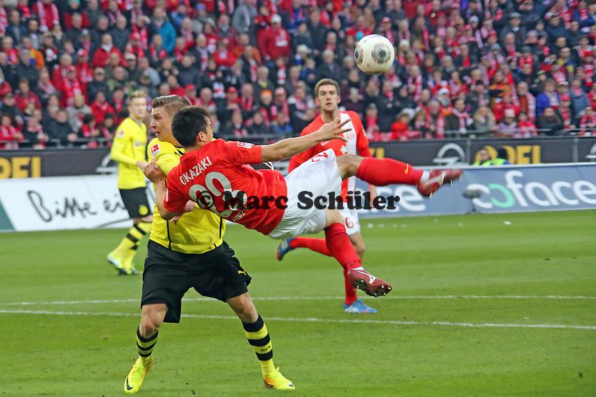 Fallrückzieher Shinji Okazaki (MAinz) - 1. FSV Mainz 05 vs. Borussia Dortmund, Coface Arena, 14. Spieltag