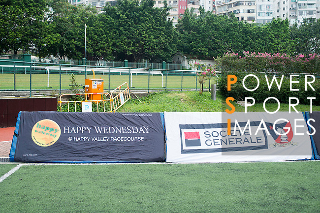 Set-up before Societe Generale Valley RFC vs Natixis Hong Kong Football Club Rugby match on 05 November 2016 in Happy Valley Pitch 8, Hong Kong, China. Photo by Marcio Machado / Power Sport Images