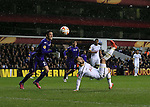 Tottenham's Roberto Soldado tries an overhead kick on goal<br /> <br /> Europa League - Tottenham Hotspur  vs Fiorentina  - White Hart Lane - England - 19th February 2015 - Picture David Klein/Sportimage