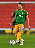 Preston North End's Ben Davies<br /> <br /> Photographer Dave Howarth/CameraSport<br /> <br /> The EFL Sky Bet Championship - Stoke City v Preston North End - Wednesday 12th February 2020 - bet365 Stadium - Stoke-on-Trent <br /> <br /> World Copyright © 2020 CameraSport. All rights reserved. 43 Linden Ave. Countesthorpe. Leicester. England. LE8 5PG - Tel: +44 (0) 116 277 4147 - admin@camerasport.com - www.camerasport.com