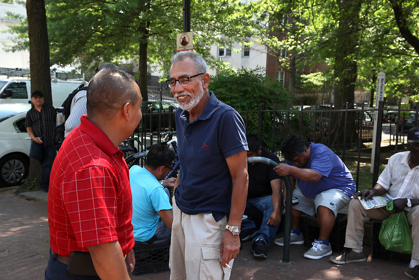 (180512RREI0101) La Esquina Project goes to La Esquina.  The documentary project La Esquina revolves around the history of the Latinos at the corner of Mt. Pleasant St. and Kenyon St.Washington DC. May 12, 2018 . ©  Rick Reinhard  2018     email   rick@rickreinhard.com