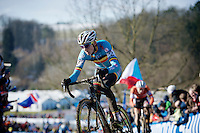 Michael Vanthourenhout (BEL)<br /> <br /> Men U23 race<br /> <br /> 2015 UCI World Championships Cyclocross <br /> Tabor, Czech Republic