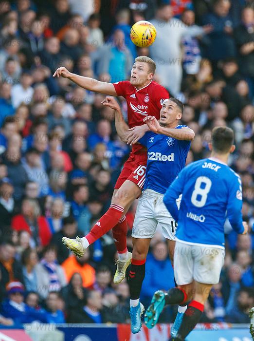 28.09.2018 Rangers v Aberdeen: Sam Cosgrove and Nikola Katic