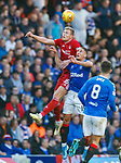 28.09.2018 Rangers v Aberdeen: Sam Cosgrove and Nikola Katic