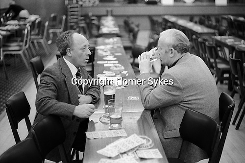 Coventry Working mens Club Saturday night after the Bingo evening entertainment England.1981