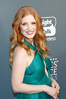 Jessica Chastain attends the 23rd Annual Critics' Choice Awards at Barker Hangar in Santa Monica, Los Angeles, USA, on 11 January 2018. - NO WIRE SERVICE - Photo: Hubert Boesl/dpa /MediaPunch ***FOR USA ONLY***