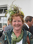03.07.2019,  GER;  Idee 150. Deutsches Derby 2019, im Bild Feature Zuschauerin mit Hut Foto © nordphoto / Witke *** Local Caption ***