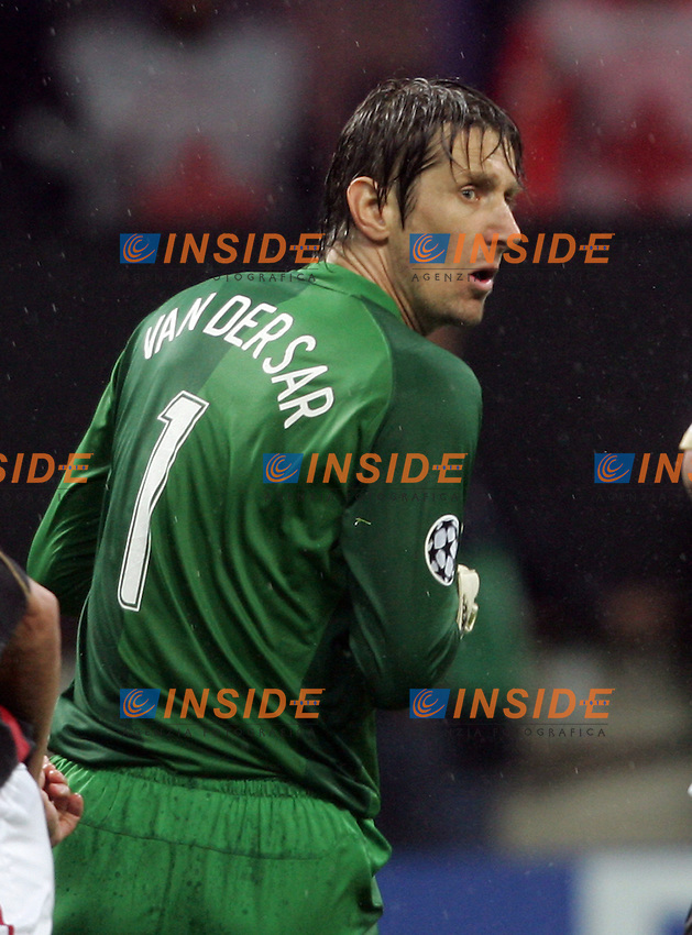 Edwin Van Der Sar (Manchester)<br /> Champions League 2006-07 <br /> 3 May 2007 (Semifinal 2nd leg) <br /> Milan Manchester United (3-0) <br /> &quot;Giuseppe Meazza&quot; Stadium-Milano-Italy <br /> Photographer Andrea Staccioli INSIDE