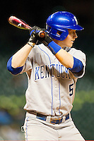Taylor Black #5 of the Kentucky Wildcats at bat against the Rice Owls at Minute Maid Park on March 4, 2011 in Houston, Texas.  Photo by Brian Westerholt / Four Seam Images