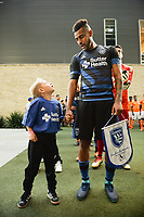 San Jose, CA - Saturday April 14, 2018: Anibal Godoy prior to a Major League Soccer (MLS) match between the San Jose Earthquakes and the Houston Dynamo at Avaya Stadium.