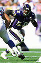 Baltimore Ravens Peter Boulware (58) during a game from his career  with the Baltimore Ravens. Peter Boulware played for 9 season, all with the Baltimore Ravens and was an 4-time Pro Bowler.(SPORTPICS)
