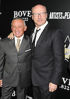 WWW.BLUESTAR-IMAGES.COM  Bovet 1822 owner Pascal Raffy (L) and Paul Haggis arrive at the Hollywood Domino's 7th Annual Pre-Oscar Charity Gala at Sunset Tower on February 27, 2014 in West Hollywood, California.<br /> Photo: BlueStar Images/OIC jbm1005  +44 (0)208 445 8588