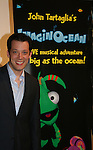 John Tartaglia at the opening night of John Tartaglia's Imaginocean, a new family undersea musical adventure on March 31, 2010 at New World Stages, New York City, New York. John Tartaglia's ImaginOcean is an interactive family show - a magical, musical undersea adventure for kids of all ages. Tank, Bubbles, and Dorsel are three best friends who just happen to be fish, and they're about to set out on a remarkable journey of discovery. And it all starts with a treasure map. As they swim off in search of clues, they'll sing, they'll dance, and they'll make new friends -- including everyone in the audience. Ultimately, they discover the greatest treasure of all -- friendship. Jam-packed with original music ranging from swing to R&B to Big Band, John Tartaglia's ImaginOcean is a blast rom the first big splash to the last wave goodbye. (Photo by Sue Coflin/Max Photos)