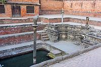 Bhaktapur, Nepal.  Royal Bath, Naga Pokhari, 17th. Century.
