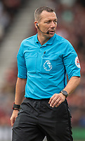 Match referee Kevin Friend <br /> <br /> Photographer David Horton/CameraSport<br /> <br /> The Premier League - Bournemouth v Sheffield United - Saturday 10th August 2019 - Vitality Stadium - Bournemouth<br /> <br /> World Copyright © 2019 CameraSport. All rights reserved. 43 Linden Ave. Countesthorpe. Leicester. England. LE8 5PG - Tel: +44 (0) 116 277 4147 - admin@camerasport.com - www.camerasport.com