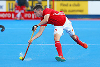 England's Phil Roper in action during the Hockey World League Semi-Final match between England and Argentina at the Olympic Park, London, England on 18 June 2017. Photo by Steve McCarthy.