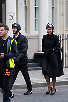 Pictured: Vanessa Kirby (Princess Margaret) and Matthew Goode (Lord Snowdon) are spotted filming season 2 on St George's Drive in Pimlico, London, during the filming of television series The Crown.