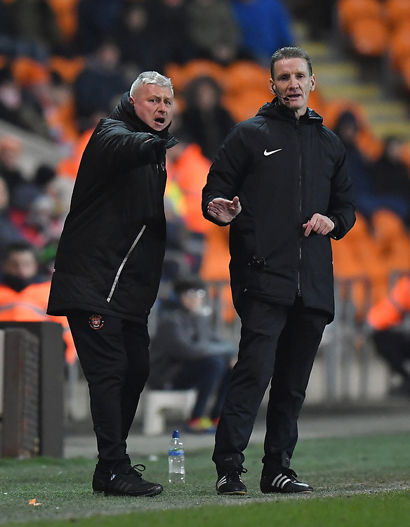 Blackpool's Manager Terry McPhillips<br /> <br /> Photographer Dave Howarth/CameraSport<br /> <br /> The EFL Sky Bet League One - Blackpool v Doncaster Rovers - Tuesday 12th March 2019 - Bloomfield Road - Blackpool<br /> <br /> World Copyright © 2019 CameraSport. All rights reserved. 43 Linden Ave. Countesthorpe. Leicester. England. LE8 5PG - Tel: +44 (0) 116 277 4147 - admin@camerasport.com - www.camerasport.com