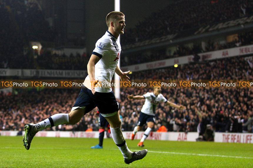 Eric Dier of Tottenham Hotspur celebrates scoring the opening goal during Tottenham Hotspur vs Newcastle United at White Hart Lane
