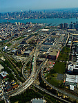 AErial view of the holland tunnel, new jersey