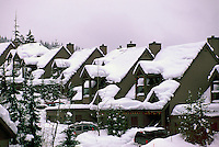 Whistler, BC, British Columbia, Canada - Snow Covered Houses / Townhouses, Southwestern BC Region, Winter