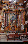 Immaculate Conception Chapel Right Nave Altarpiece Immaculate Conception with Saints Augustin Gregory the Great John the Evangelist and John Chrysostom 1769 Statues Judith with Head of Holofernes Pietro Pacilli King David San Carlo al Corso Rome