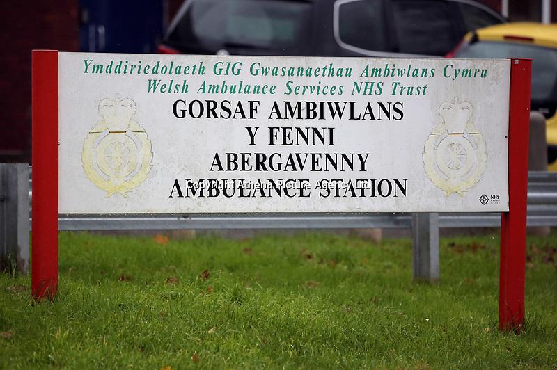 Pictured: Abergavenny Ambulance Station, Wales, UK. Tuesday 07 November 2017