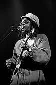 Peter Tosh - performing live on the Wanted Dead or Alive Tour at the Rainbow Theatre in Finsbury Park London UK - 30 Jun 1981.  Photo by: George Chin/IconicPix