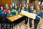 Serving Smiles Mercy Mounthawk mental health initiative TY student handed out smiles to Bank of Ireland Customers on Monday. Pictured Front l-r Emma Ryan, Katie Daly, Rachel Deacy  Middle l-r Olivia Moriarty, David Broderick, Julie O Grady Back l-r Jodie O'Halloran, Lauren Barrett, Edel Moran, Meabh Buckley, Ava McCarthy, Moira Dewey