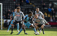 Anthony Stewart of Wycombe Wanderers looks for options during a Wycombe attack during the Sky Bet League 2 match between Notts County and Wycombe Wanderers at Meadow Lane, Nottingham, England on 28 March 2016. Photo by Andy Rowland.
