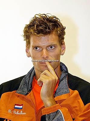 20030918, Zwolle, Davis Cup, NL-India, Sjeng Schalken