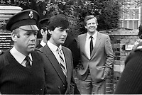 Pix: Copyright Anglia Press Agency/Archived via SWpix.com. The Bamber Killings. August 1985. Murders of Neville and June Bamber, daughter Sheila Caffell and her twin boys. Jeremy Bamber convicted of killings serving life...copyright photograph>>Anglia Press Agency>>07811 267 706>>..Jeremy Bamber at court. no date..ref 0001 neg 16...