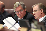 Nevada Assemblyman Tick Segerblom, left, and Sen. David Parks, both D-Las Vegas, talk in committee Thursday, May 5, 2011, at Western Nevada College in Carson City, Nev..Photo by Cathleen Allison