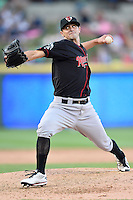 Nashville Sounds pitcher Brad Mills (49) delivers a pitch during a baseball game, Saturday May 02, 2015 in Round Rock, Tex. Express defeated Sounds 5-4. (Mo Khursheed/TFV Media via AP images)