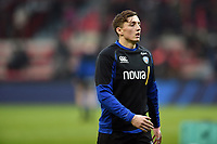 Darren Atkins of Bath Rugby looks on during the pre-match warm-up. Heineken Champions Cup match, between Stade Toulousain and Bath Rugby on January 20, 2019 at the Stade Ernest Wallon in Toulouse, France. Photo by: Patrick Khachfe / Onside Images