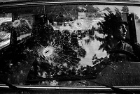 Tshinvali, South Ossetia, August 21, 2008.Many cars have been taken as targets by both sides during the conflict...